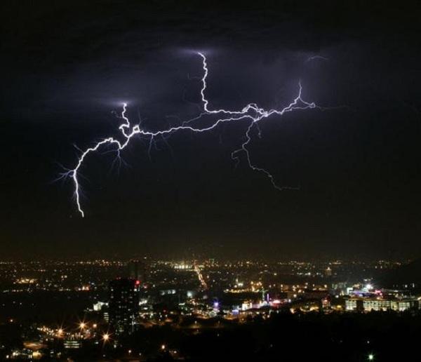tormentas rayos Los Angeles