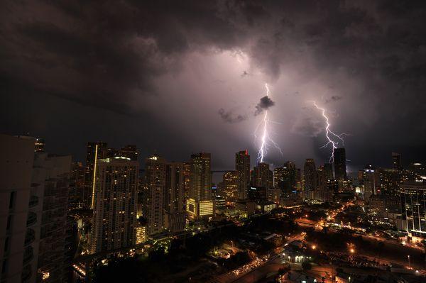 tormentas rayos Miami