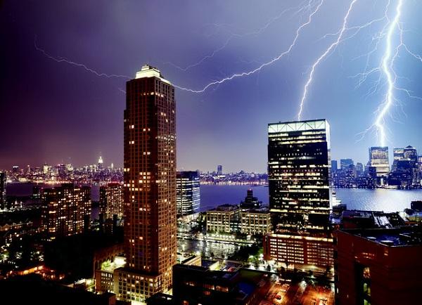 tormentas rayos Nueva Jersey