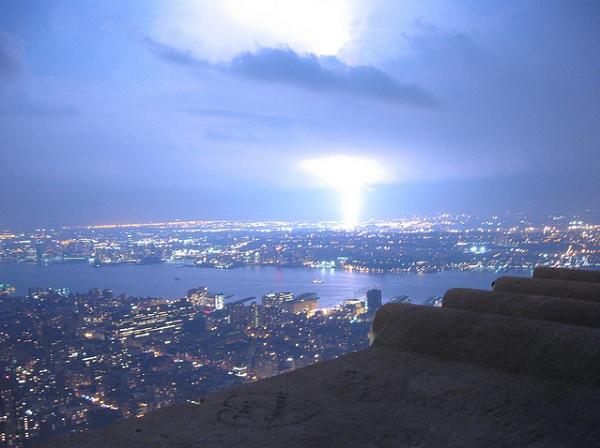 tormentas rayos Nueva York