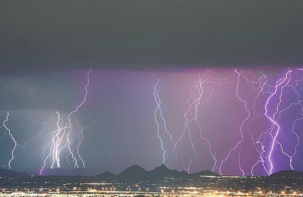 tormentas rayos Phoenix