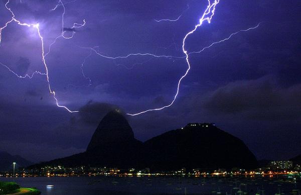 tormentas rayos Rio de Janeiro