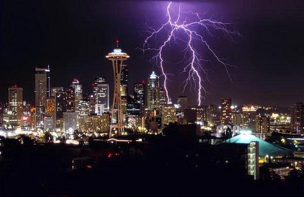 tormentas rayos Seattle