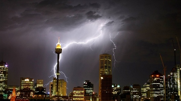 tormentas rayos Sidney