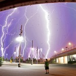 Tormentas y rayos en varias ciudades del mundo