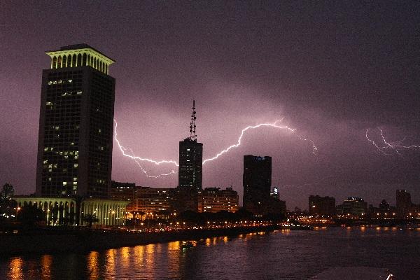 tormentas rayos el Cairo