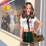 Vestir a la chica para ir de tiendas