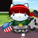 Hello Kitty motorista