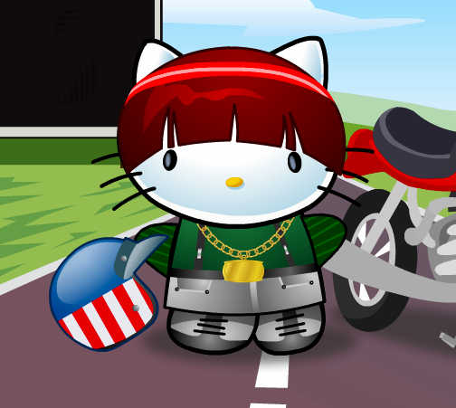 hello-kitty-motorista