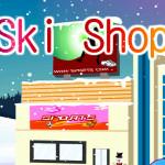 Juego de compras en la estación de esquí