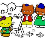 Juego de pintar y colorear a Hello Kitty