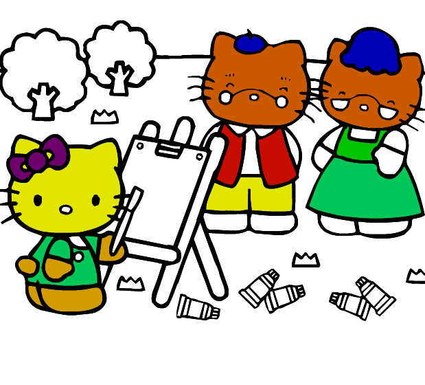 juego-pintar-colorear-hello-kitty