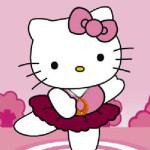 Juego de vestir a Hello Kitty para su show