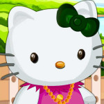 Juego de vestir y moda a Hello Kitty