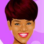 Cortar el pelo y maquillar a Rihanna
