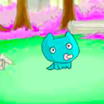 Juego con el bebé de dragón azul
