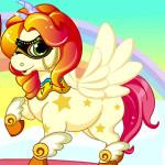 Juego con el bebé unicornio arcoiris