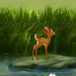 Juego para coger flores con Bambi