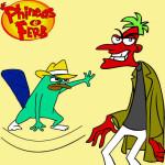 Juego de color y pintura con Phineas y Ferb