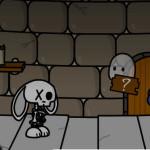 Juego con Halloween T y Jinx esqueleto