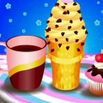 Juego de jugos y helados