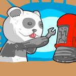 Juego con el panda ingeniero