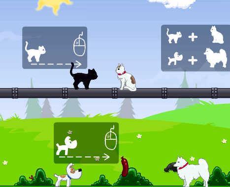 juego-unir-parejas-gatos-perros