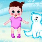 Juego de vestir a los bebés para invierno
