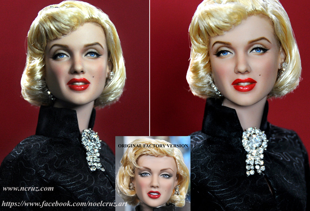 marilyn monroe doll muñeca antes despues