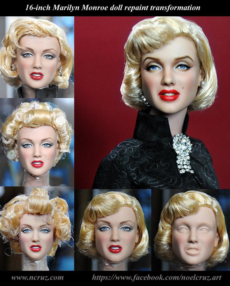 marilyn monroe muñeca transformacion