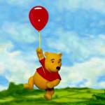 Winnie the Pooh pasea en globo