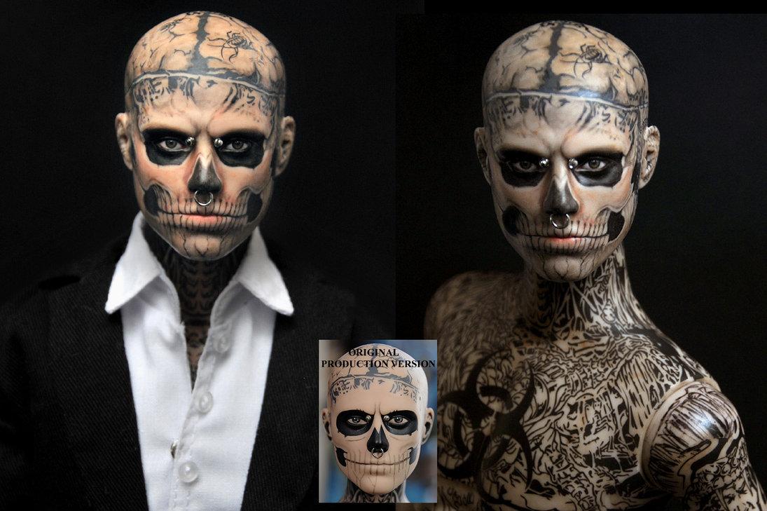 zombie boy rick genest muñeco doll