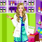Juego con Barbie farmacéutica
