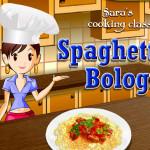Juego para cocinar espaguetis