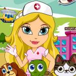 Juego en el hospital de mascotas
