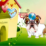 Juego con el perro medico