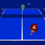 Juego de ping pong con Mario y Luigi Bros