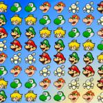 Juego de tres en raya con los personajes de Mario Bros