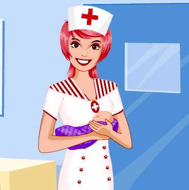 juego-vestir-enfermera-maternidad