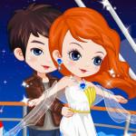 Juego de vestir a la pareja del Titanic