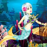 Juego de vestir a la sirena bajo el océano