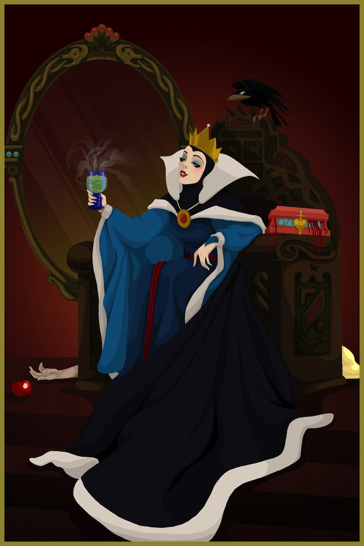 blancanieves reina Grimhilde final malo disney