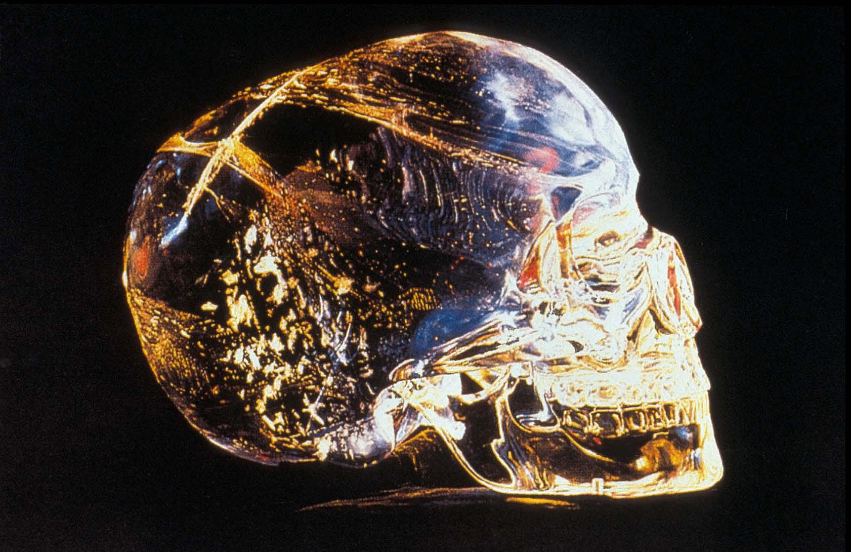 calavera muerte cristal cuarzo