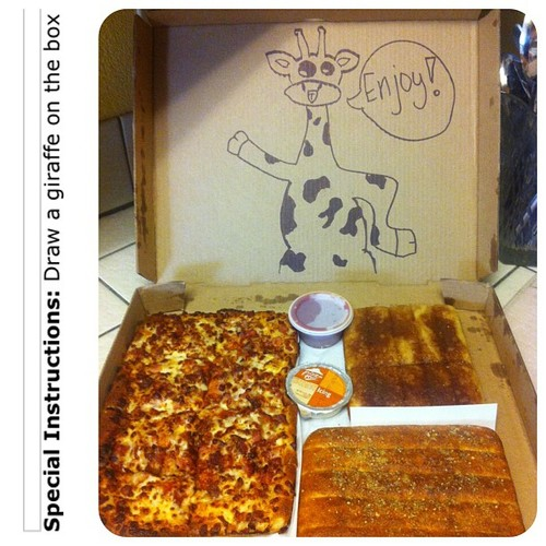 dibujar caja pizza jirafa