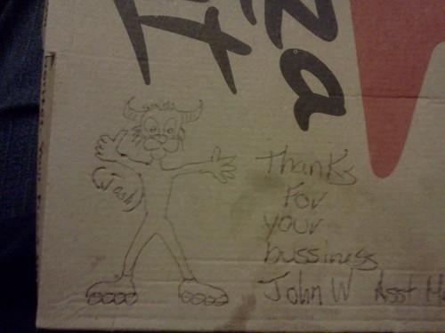 dibujos cajas pizza cabra patines