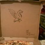 Instrucciones especiales en la cajas de pizza 2