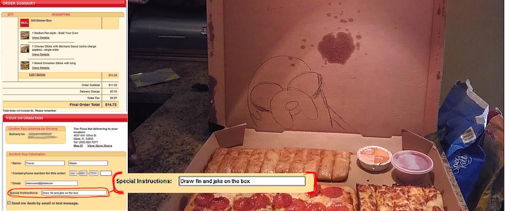 dibujos cajas pizza finn jake