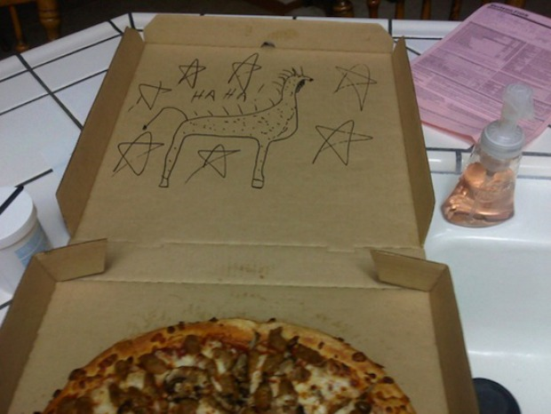 dibujos cajas pizza jirafa