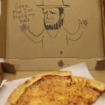 Instrucciones especiales en las cajas de pizza
