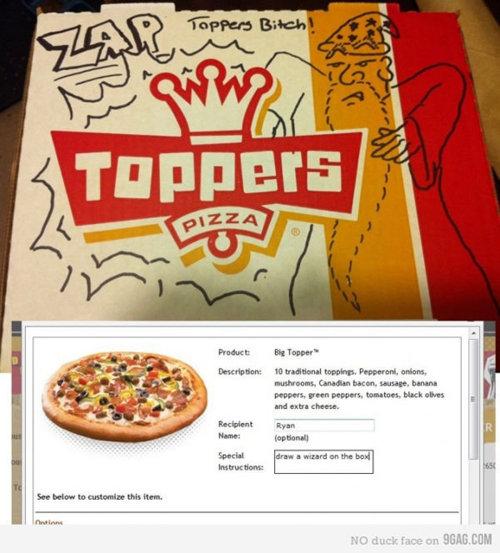 dibujos cajas pizza mago